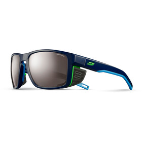 Julbo Shield Spectron 4 Aurinkolasit, dark blue/blue/green-brown flash silver